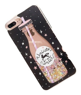 Funda Unicornio Con Brillo Agua Mágica Para iPhone