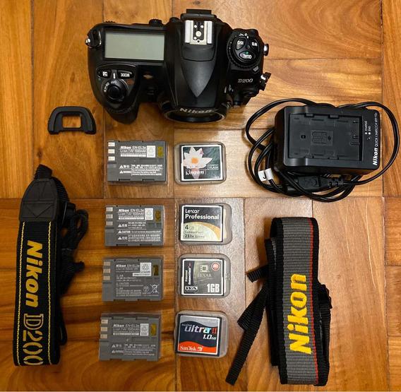 Camera Nikon D200 Mais Acessorios