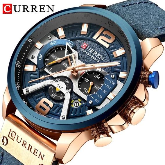 Promoção Relógio Masculino Curren 8329 Luxo Esportivo