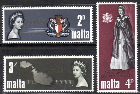 Malta 1967. Rainha Isabel De Grã Bretanha (3)