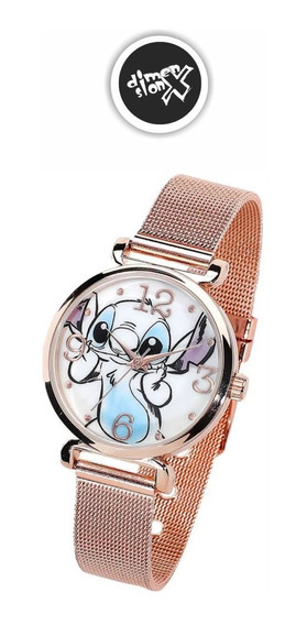 Reloj Stitch Gold De Lilo Y Stitch Disney Original Accutime