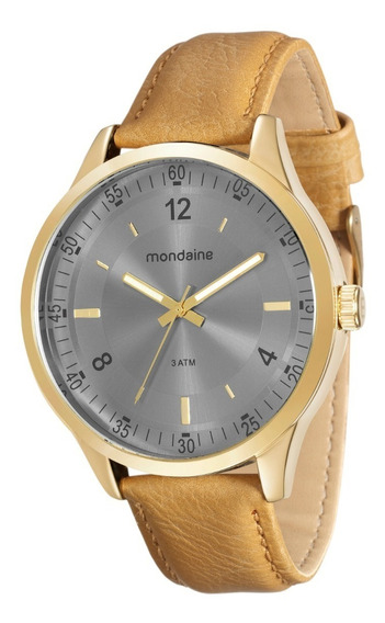 Relógio Mondaine Masculino Analógico Couro Garantia 1 Ano