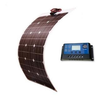 Kit Painel Placa Solar 50w 18v Flex + Controlador 10 Amperes