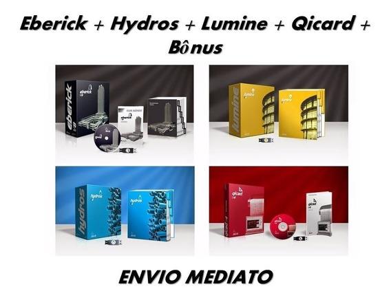 Eberick V8 2014 + Hydros V4 + Lumine V4 + Qicad V4 + Bônus