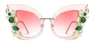 Slocyclub Gafas De Sol Para Mujer Diseño De Gato Con Diaman
