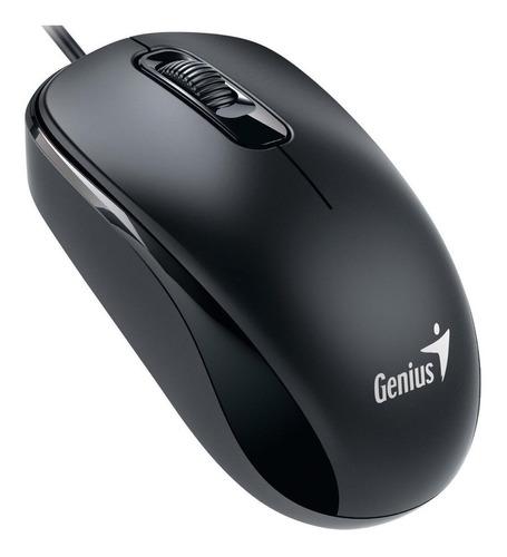 Imagen 1 de 2 de Mouse Genius  DX-110 USB negro suave