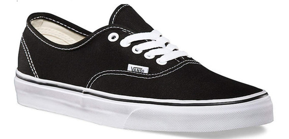 Zapatillas Vans Authentic Black White Negro Unisex Original