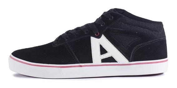 Tênis Alfa Skate California Preto E Branco Camurça Promoção
