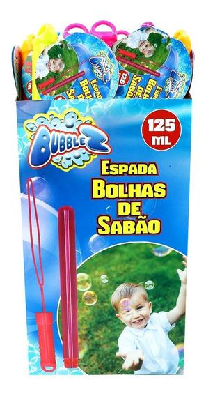 Kit 4 Espada Bolha De Sabão Gigante Com Liquido 125ml Espuma