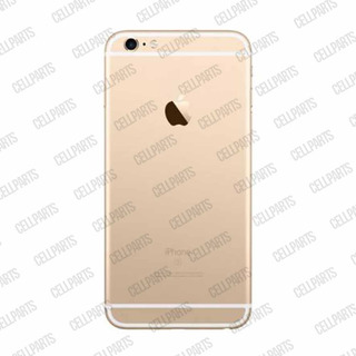 Carcaça iPhone 6s Plus A1634 A1687 A1699 Dourada C/ Flex