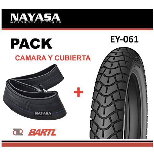 Cubierta Moto 90/90-18 + Cámara Nayasa Ey061