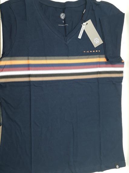 Camiseta Launch Masculino T-cross Vw Azul Marinho Pp P M G