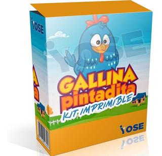 Kit Imprimible Gallina Pintadita + Envío Inmediato!!!