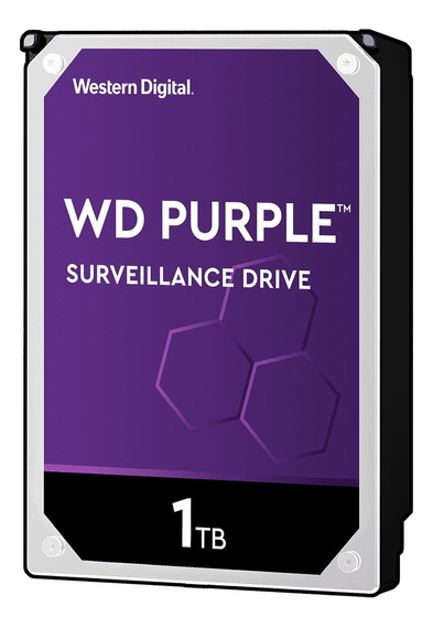Disco duro interno Western Digital WD Purple WD10PURZ 1TB púrpura