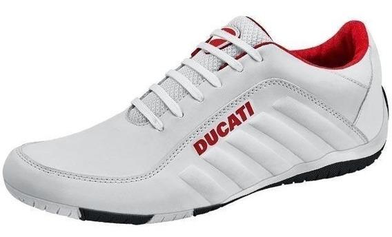 Tenis Ducati Originales Blanco Rojo Diseño Tendencia Moda