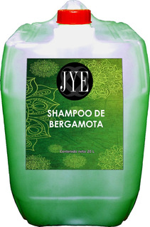 Shampoo De Bergamota Organico Jye Puro A Granel 20 Litros