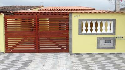 Casa Em Itanhaém Lado Praia Com 3 Dormitórios, 4 Vagas Autos