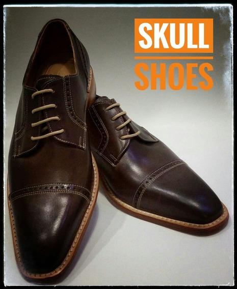 Zapatos De Cuero Caballero