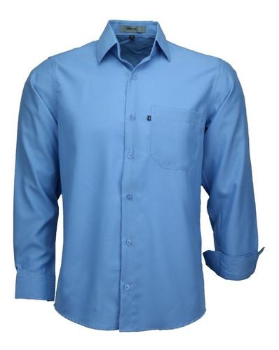 Imagem 1 de 3 de Camisa Masculina Amil Com Detalhe Não Amassa Lançamento 1672