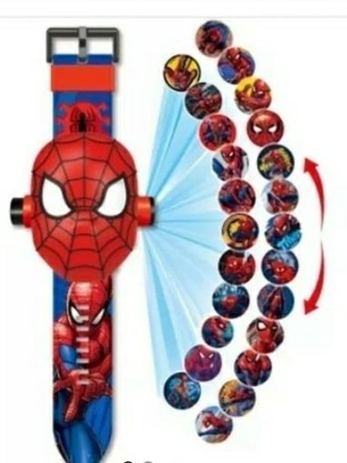 Relógio Infantil Digital Homem Aranha Projeta 24 Imagens