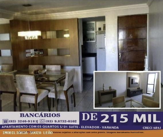 Apartamento Para Venda Em João Pessoa, Bancarios, 3 Dormitórios, 1 Suíte, 1 Banheiro, 1 Vaga - 7401