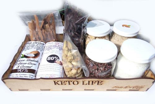 Imagen 1 de 10 de Bandeja Keto Cetogenica Regalo Chocolates Cacao 80% 90% Coco