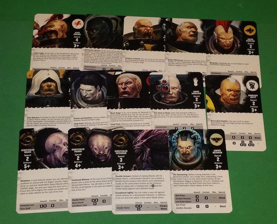 Warhammer 40k Deathwatch Overkill Baralho Deck Carta Novos