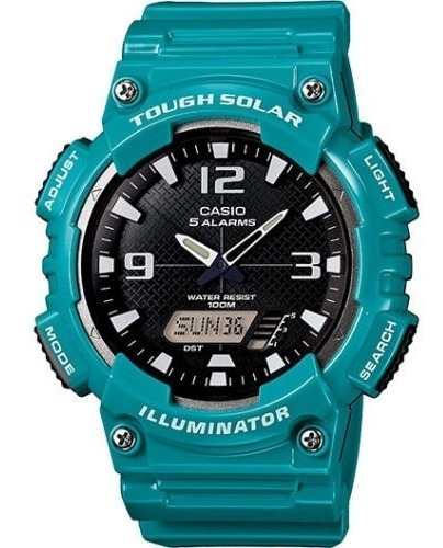 Relógio Casio Tough Solar Azul Aq-s810wc-3av Ultra Novo !!!