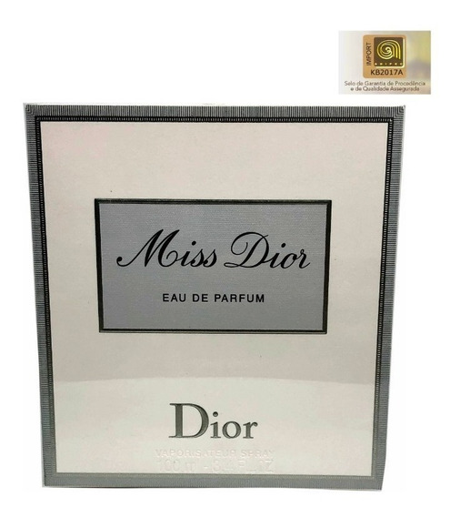 Perfume Miss Dior Edp 100ml - + Amostra Original Selo Adipec