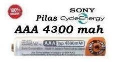 2 Sony Aaa Recarregável 4300mah 1,2v Duracell Panasonic