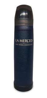 Termo La Merced Forrado En Cuero Azul (luminox Lumilagro)