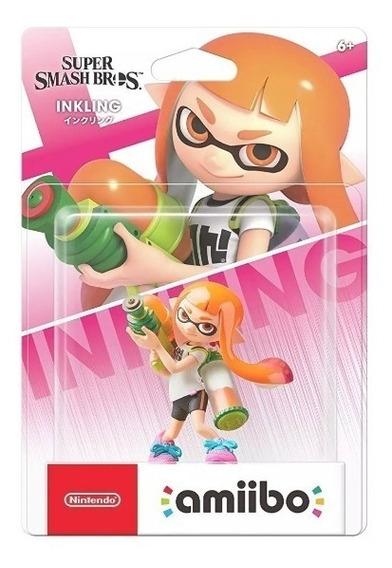 Amiibo Splatoon Inkling Girl Ultimate Smash Bros Switch 3ds