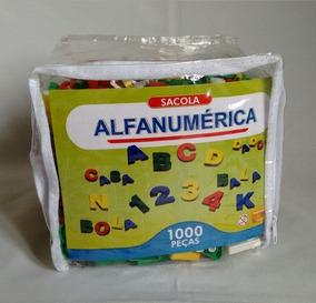 Brinquedo Educativo - Sacola Alfanumérica 1000 Peças