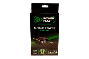 Fonte Power Play Single Power 1000ma 9v Bivolt