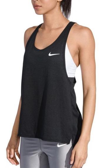 Musculosa Nike Miler Negro Mujer