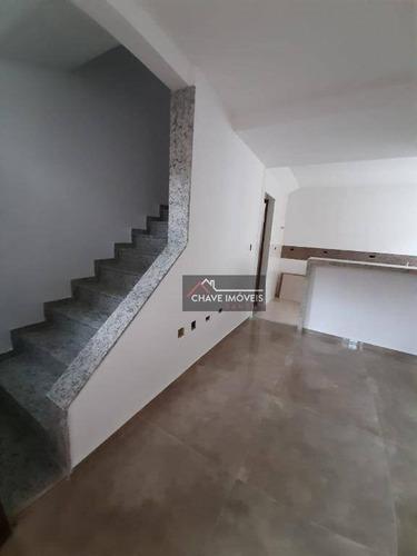 Imagem 1 de 30 de Sobreposta Recém Construída, Com 2 Dormitórios Suítes, 2 Vagas À Venda, 90 M² Por R$ 477.000 - Marapé - Santos/sp - So0137