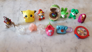 Muñecos Miniaturas - Kinder, Digimon X 4 Unidades