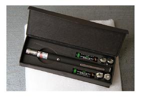 2 Laser Potente Forte Caneta Pointer Militar Luz Super Verde
