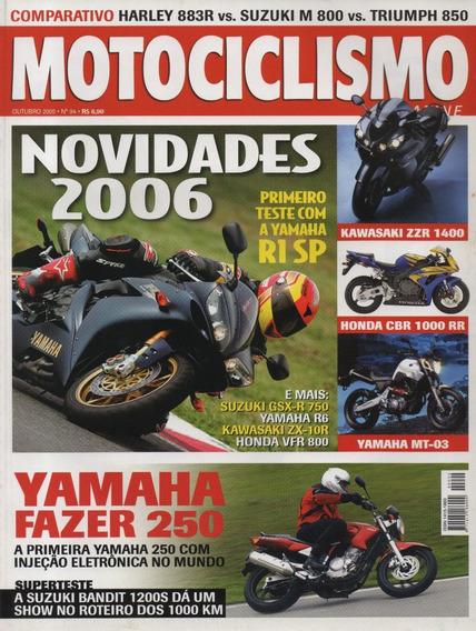 Motociclismo N°94 Yamaha R1 Sp Fazer 250 Bandit 1200s Mt-03