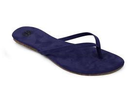 Rasteirinha Brasileirinha Mercedita Shoes Em Suede Marinho