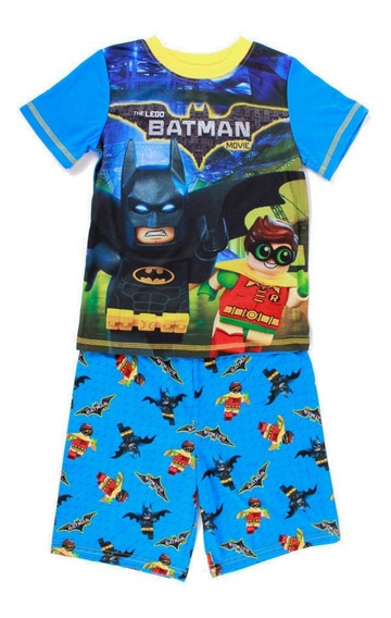 Pijama Lego Para Niño De Batman Y Robin Movie Con Short