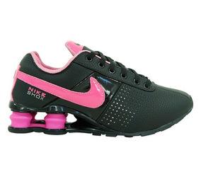 71679662fad Nike Shox Deliver Feminino Preto E Rosa - Tênis no Mercado Livre Brasil