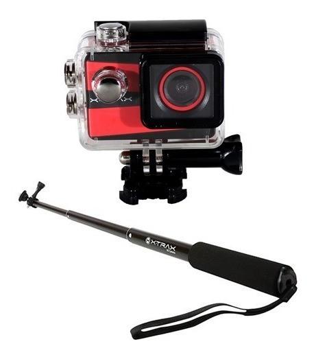 Câmera De Ação Xtrax Smart 4k Ultra Hd + Bastâo Retrátil