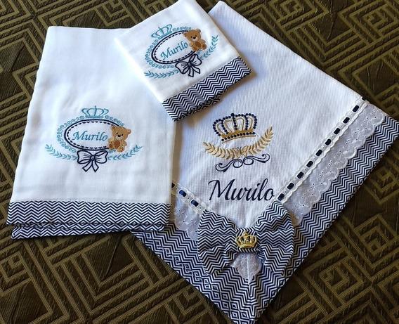 Kit De Manta Para Bebê De Piquet E Kit Fraldas Forrada