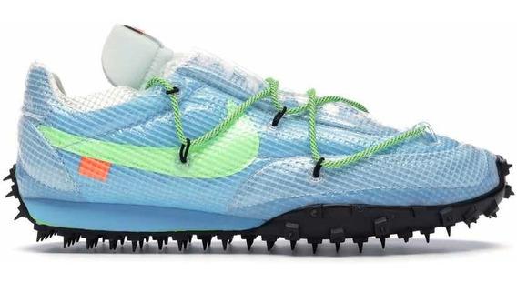 Sneakers Original Nike Waffle Racer Off-white Azul Original