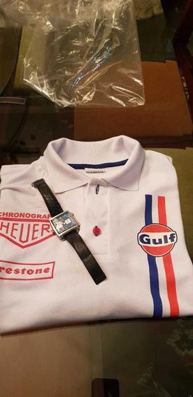 Kit Camisa Polo E Relógio Tagheuer