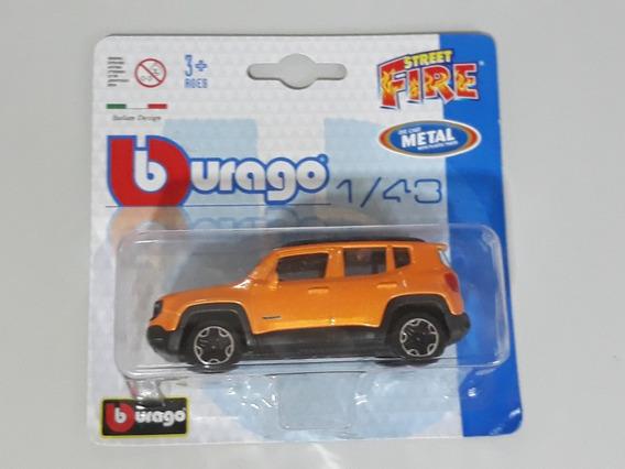 Burago Street Fire - 2017 Jeep Renegade 4x4 - Escala 1/43