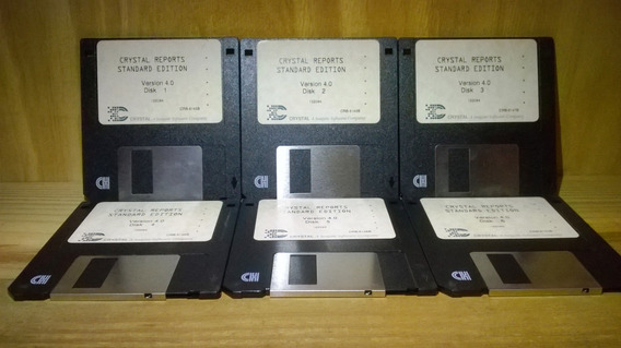 Crystal Reports Standard 4.0 Original -6 Diskettes Coleccion