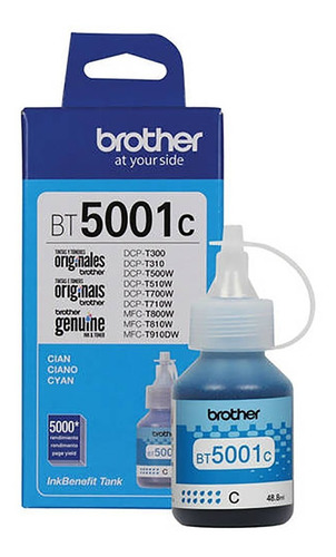 Tinta Brother Bt5001 Cian Magenta Amarillo Dcp-t300 500w Original C/u