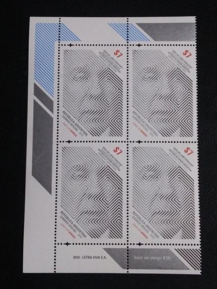 Estampillas, Retrato De Borges,gj-3834-mint-